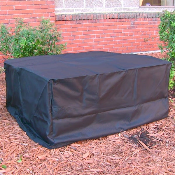 Sunnydaze Heavy Duty Square Black Fire Pit Cover