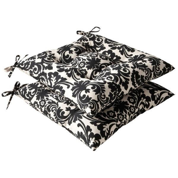 set of 2 outdoor patio furniture tufted chair seat cushions