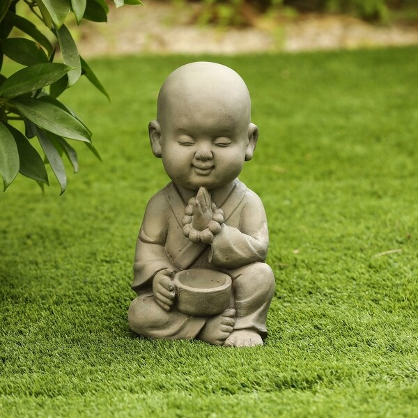 MgO Meditating Buddha Garden Statue. Opens flyout.