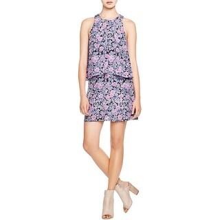 Joie Womens Everla Casual Dress Silk Floral Print
