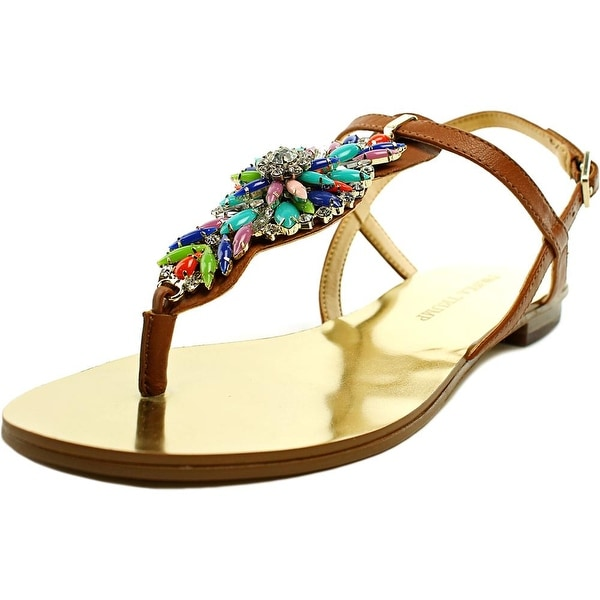 Ivanka Trump Fyona Open-Toe Leather Slingback Sandal