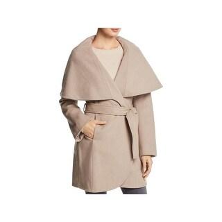 Tahari Womens Marla Wrap Coat Winter Wool