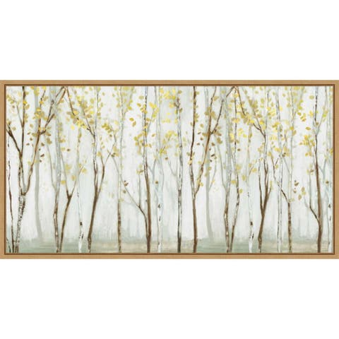 Canvas Art Framed 'Long landscape' by Allison Pearce 27 x 14-inch