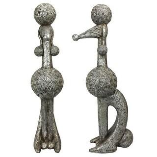 Design Toscano Caniche Chien, Paris Poodle Dog Statue: Set of Two