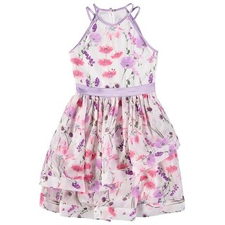 Speechless Girls 7-16 Floral Tier Dress - Lavender