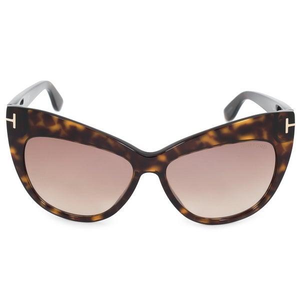2d61182768e0 Shop Tom Ford Nika Cat Eye Sunglasses FT0523 52G 56 - Free Shipping ...