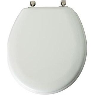 Bemis 44BN 000 White Round Wood Toilet Seat