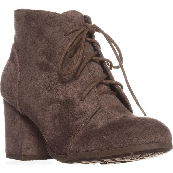 madden girl Torch Lace-Up Ankle Boots, Dark Taupe