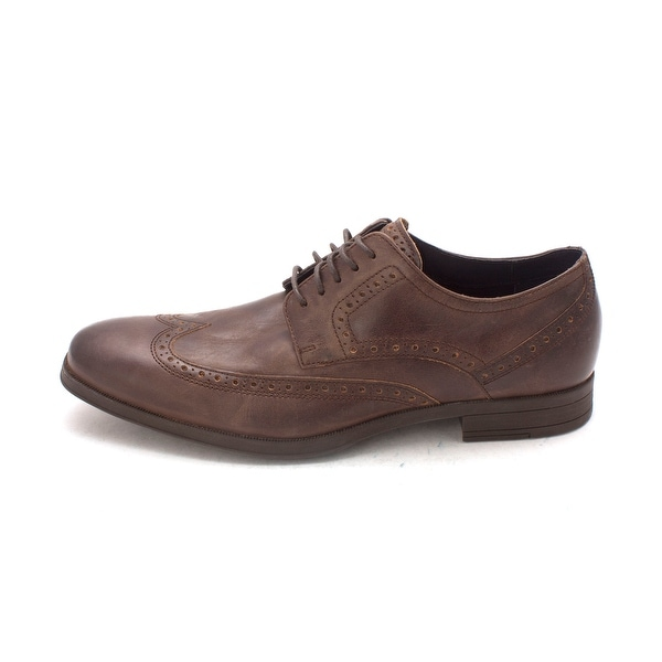 Cole Haan Mens Dwyghtsam Leather Lace Up Dress Oxfords - 8.5