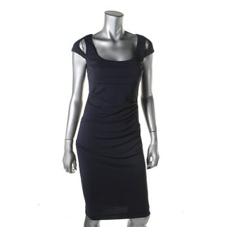 Nicole Miller Womens Cut-Out Gathered Cocktail Dress