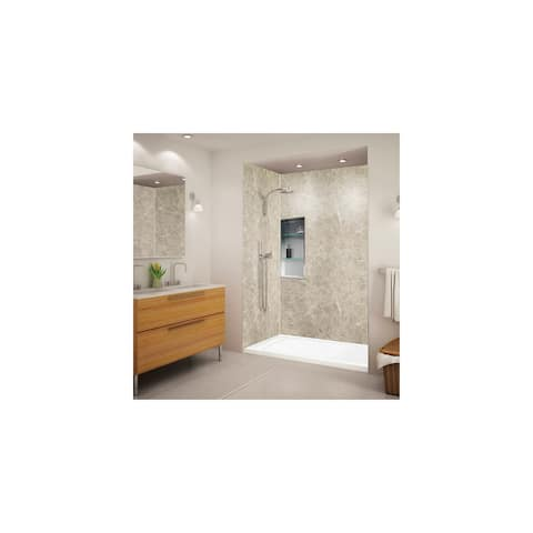 """Transolid Linear 60"""" x 32"""" Alcove Shower Base with Left Hand Drain - 60"""" x 32"""" - 60"""" x 32"""""""
