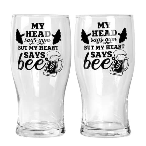 STP Goods My Head Says... Beer Glass Set of 2 - N/A