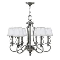 "Hinkley Lighting 4246 6 Light 27.75"" Width 1 Tier Candle Style Chandelier from the Plymouth Collection"