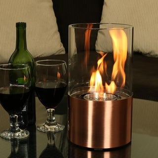 Sunnydaze Fiammata Ventless Tabletop Bio Ethanol Fireplace Copper with Fuel