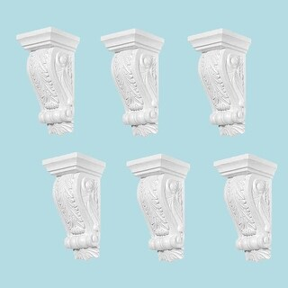 6 Fireplace Corbels Victorian Style White Urethane Set of 6