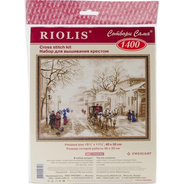 """Old Street Counted Cross Stitch Kit-15.75""""X11.75"""" 14 Count"""