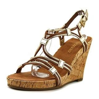Aerosoles Real Plush Women  Open Toe Leather Tan Wedge Heel