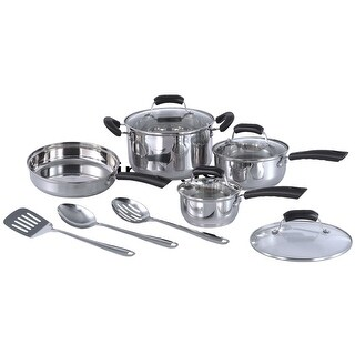 Sunpentown HK-1111 11 Piece Stainless Steel Cookware Set - STAINLESS STEEL