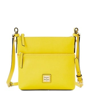 Dooney & Bourke Saffiano Letter Carrier (Introduced by Dooney & Bourke at $178 in Jan 2016) - Yellow