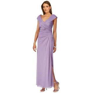 Alex Evenings A-Line Portrait Collar Evening Gown Dress - 12