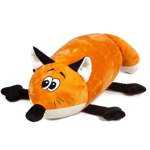 Mooshi Squishy Comfortable Bolster Roll Pillow in Fox Design