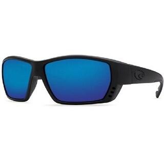 Costa Del Mar Sunglasses - Tuna Alley- Glass / Frame: Blackout Lens: Polarized Blue Mirror Wave 580 Glass