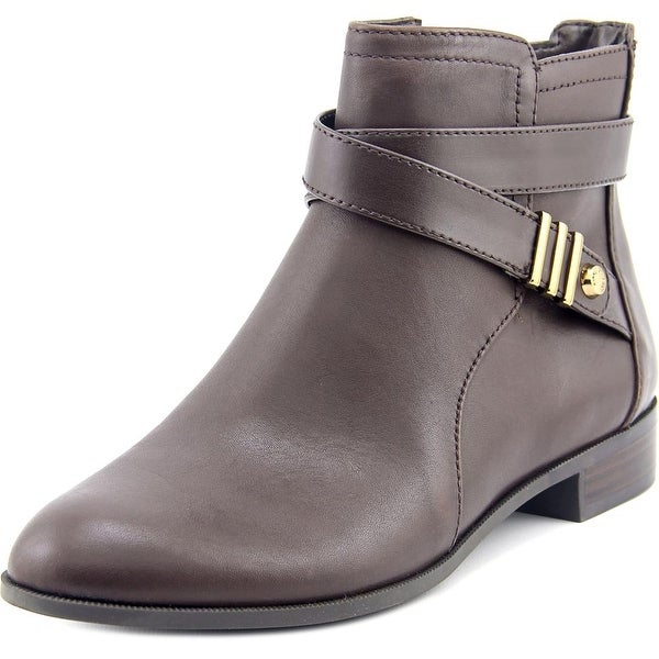 Anne Klein Kael Women Round Toe Leather Ankle Boot