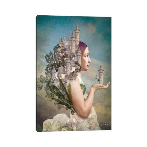 """iCanvas """"My Home Is My Castle"""" by Catrin Welz-Stein Canvas Print"""