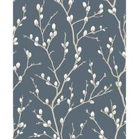 Graham and Brown 33-279 56 Square Foot - Karma Midnight - Non-Pasted Non-Woven Wallpaper