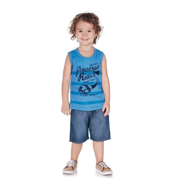 Pulla Bulla Toddler Boy Sleeveless Shirt Striped Tank Top