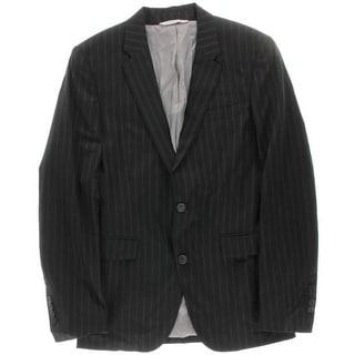 Zara Mens Wool Striped Two-Button Suit Jacket - 36