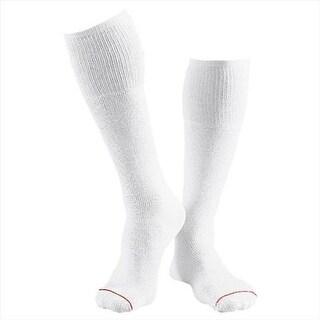 180-6 Mens Over The Calf Tube Socks 6-Pack, Size 15 - 10 - White