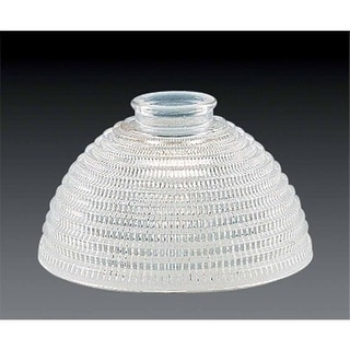 """Volume Lighting GS-104 Glass Bath Room 4"""" Height Clear Ribbed Glass Dome Shade"""