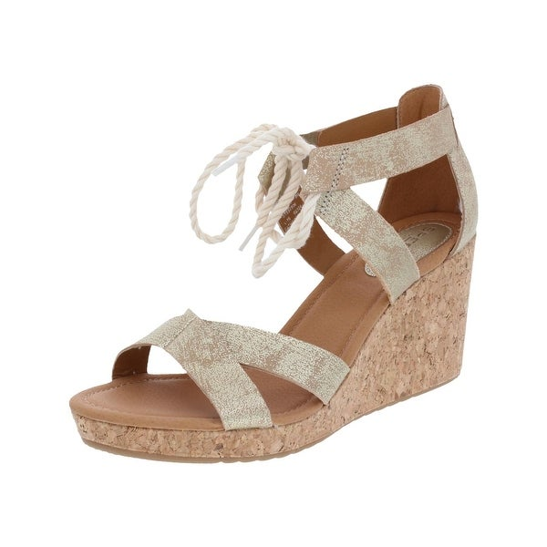 Sperry Womens Dawn Ari Wedge Sandals Open Toe Strappy