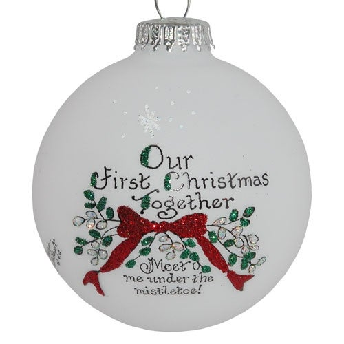 First Christmas Mistletoe Ornament