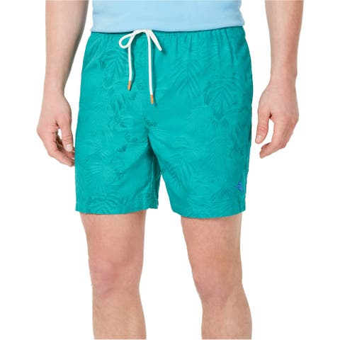 Tommy Bahama Mens Naples Swim Bottom Trunks, Green, Small