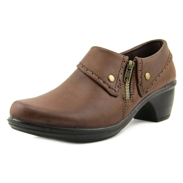 Easy Street Darcy Women Round Toe Synthetic Brown Loafer