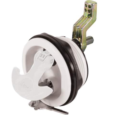 Whitecap t-handle latch white/white nylon locking