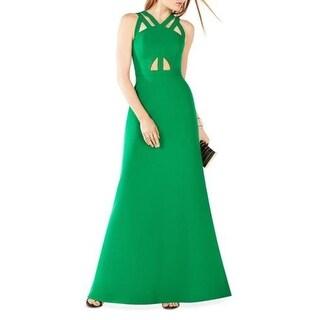 BCBG Max Azria Womens Deana Semi-Formal Dress Crepe Sleeveless - 2