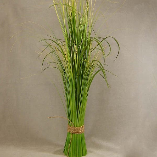 "1Pc Artificial Grass Bush Plant 29"" Onion Grass Greenery PVC Grass"