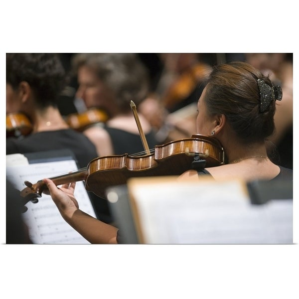 """""""Viola players in symphony orchestra during performance"""" Poster Print"""