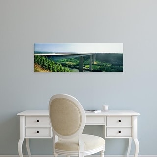 Easy Art Prints Panoramic Images's 'View of Moselle Bridge over Bundesautobahn 61, Moselle, Germany' Canvas Art
