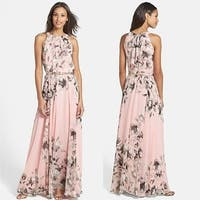 Women's Fashion Boho Long Maxi Dress Sleeveless Lady Beach Dresses