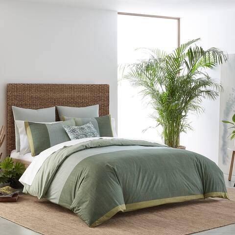 IZI Chambray Color Block Print Cotton Comforter Set