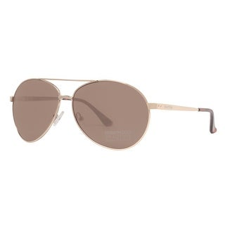 Kenneth Cole Reaction KC1184 0032E Men's Gold Brown Aviator Sunglasses - 60mm-12mm-130mm