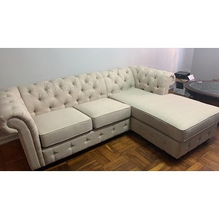Knightsbridge Tufted Scroll Arm Chesterfield 3-Seat Sofa and Chaise by iNSPIRE Q Artisan