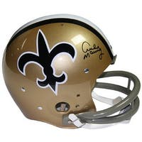 Archie Manning signed New Orleans Saints Riddell TK Full Size 2bar TB Helmet Steiner Hologram