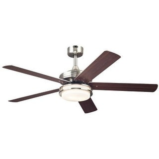 "Westinghouse 7247700 Castle 52"" 5 Blade Hanging Indoor Ceiling Fan with Reversible Motor, Blades, Light Kit, and Down Rod"