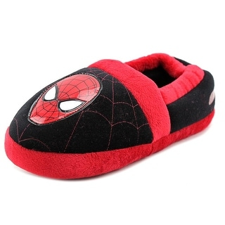 Marvel Heroes Ultimate Spiderman Youth Round Toe Synthetic Red Slipper