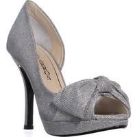 Caparros Lucky Platform Mesh Dress Sandals, Silver - 7.5 us